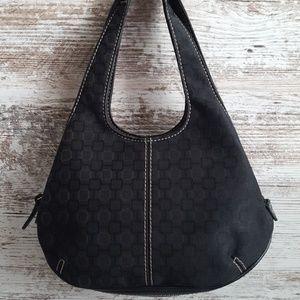 🔴Nine West Black Patterned Fabric Bag